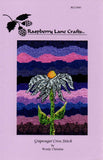 Buy flowers cross-stitch pattern coneflower purple