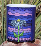 Purple Flower Art Mug Grapesugar by Wendy Christine for sale