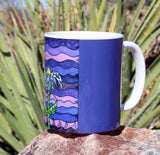 Beautiful Purple Coffee Cup Southwest Art by Wendy Christine for Sale at Raspberry Lane Crafts