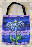 Grapesugar Purple Tote Bags for Sale with Flower by  Wendy Christine