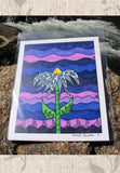 Grapesugar Art Print 8 x 10 inches features a purple print with flower by artist Wendy Christine for Sale
