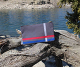 Gray Flag Accessory Pouches for Sale by The Art of Wendy Christine