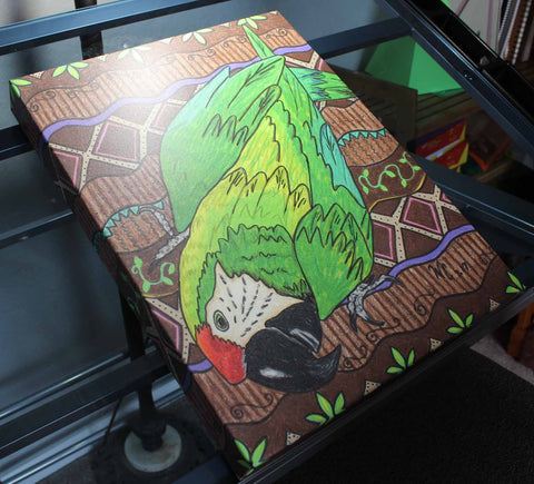 Great Green Macaw on Canvas
