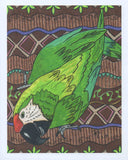 Great green macaw art print for sale at Raspberry Lane Crafts.