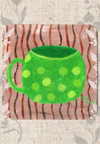 Green Coffee Cup with Spots Coasters