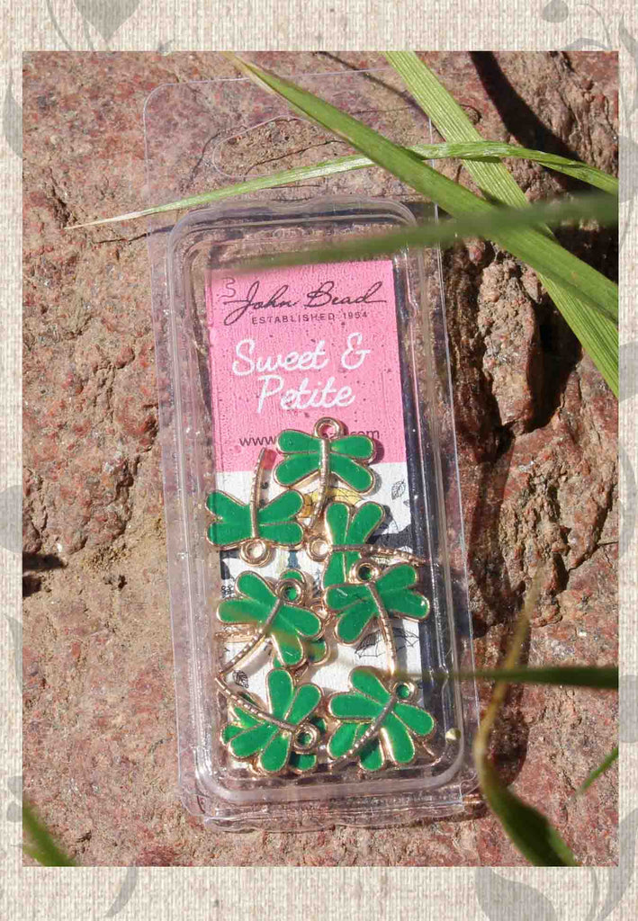 Green Dragonfly Charms John Bead Sweet and Petite for Sale at Raspberry Lane Crafts