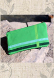 Green Flag Accessory Pouches for Sale with Zipper from Raspberry Lane Crafts.