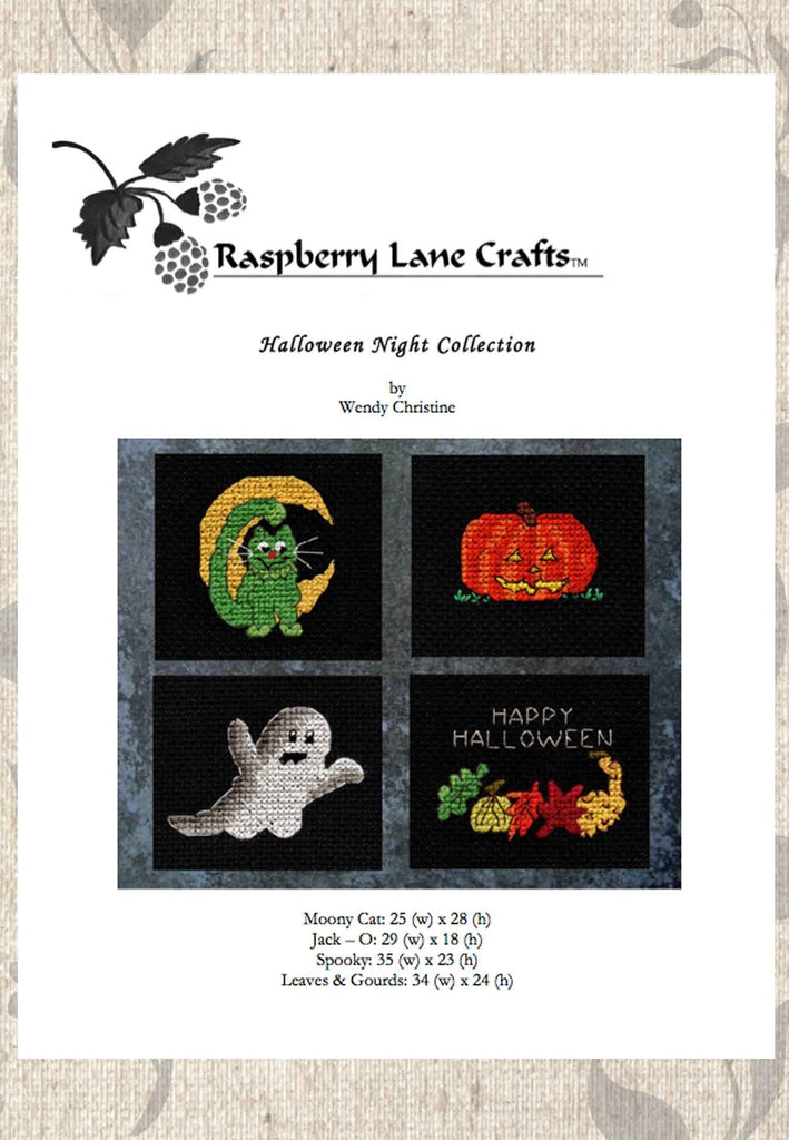 Buy Halloween Cross-Stitch Pattern Downloads at Raspberry Lane Crafts.  Great Prices!