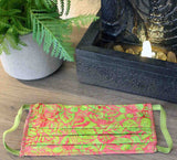 Hawaiian Watermelon Pink and Green Face Masks for Sale at Raspberry Lane Crafts