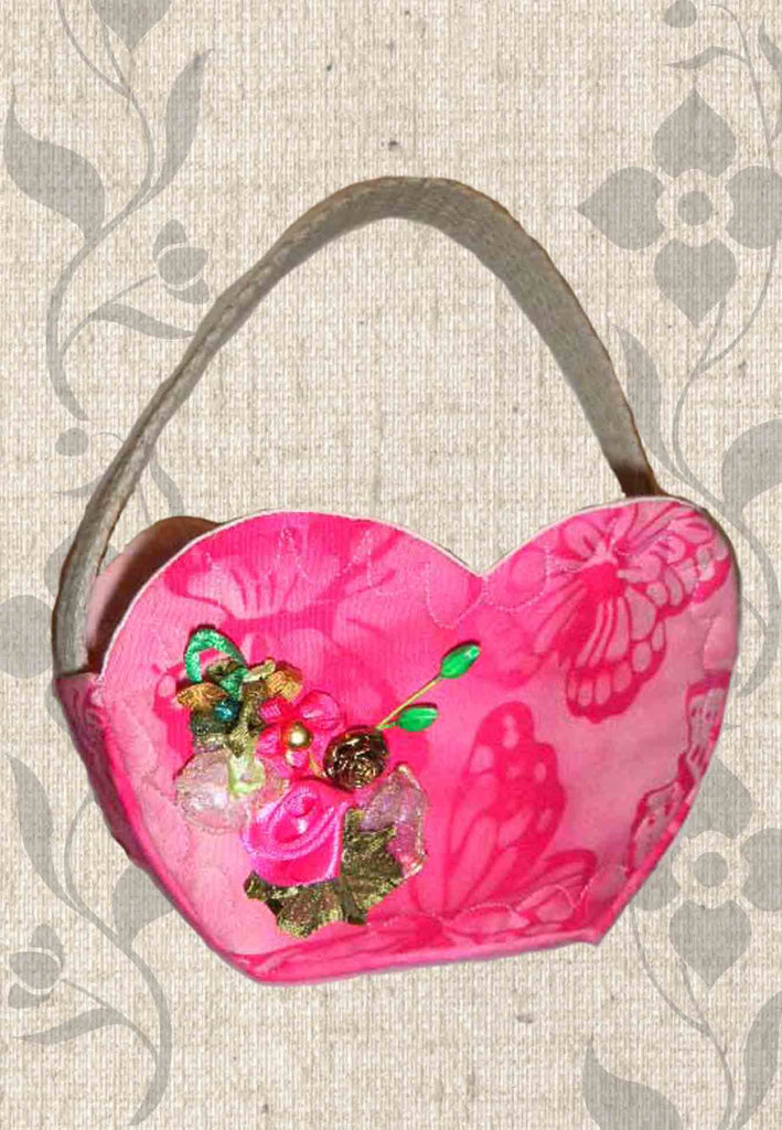 Fabric Heart Basket Pattern for Sale