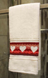 Valentine Towels Cross Stitch Pattern
