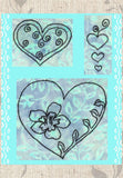 Beautiful hearts embroidery pattern design downloads for Valentine's Day or any time of year.  For sale, find, purchase at Raspberry Lane Crafts. Wendy Christine designer.