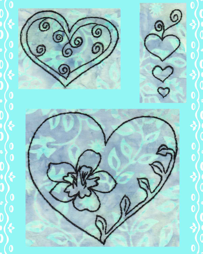 Hearts of Love Embroidery Digital Download