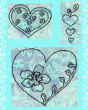 Hearts of Love Embroidery Download