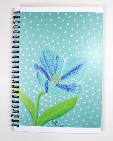 Himalayan Blue Poppy Spiral Notebook