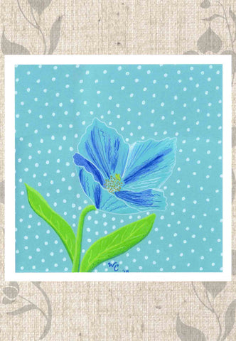 Himalayan Blue Poppy Artwork