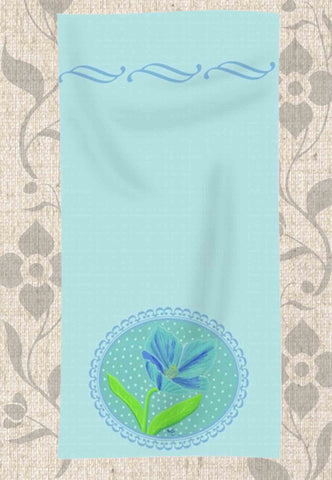 Himalayan Blue Poppy Hand Towel Lady Blue