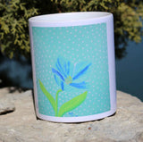 Himalayan Blue Poppy Mug for sale at Raspberry Lane Crafts