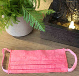 Hot Pink Batik Fabric Face Masks for Sale at Raspberry Lane Crafts