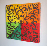 Sunset Filigree Mounted Giclee on Canvas
