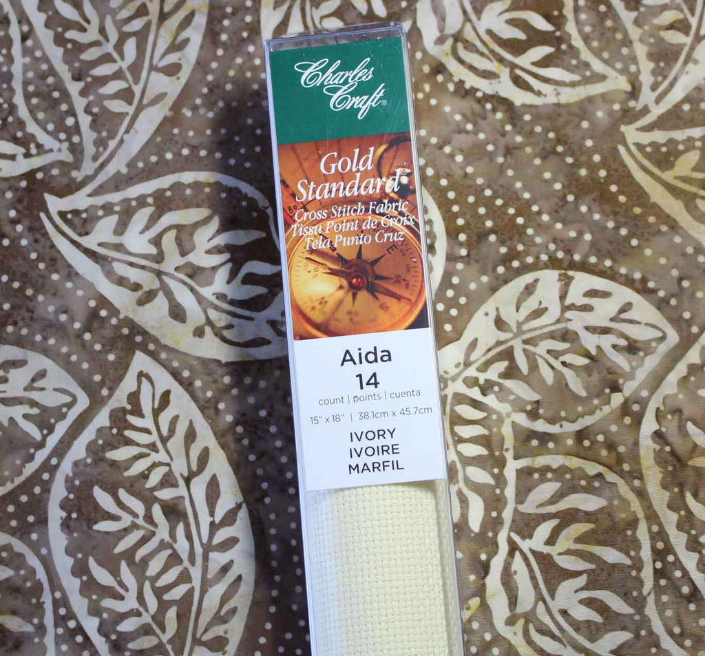 Charles Craft DMC Aida Fabric 14-Count Ivory