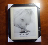 8 x 10 inch black frame with glass available for purchase at Raspberry Lane Crafts.