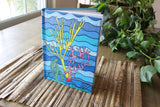 Blue Hard Journal for Sale Coral Island by The Art of Wendy Christine at Raspberry Lane Crafts