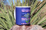 Purple Flower Mugs for Sale at Raspberry Lane Crafts.  Find, Purchase, Buy