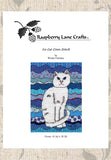 Buy White Cat cross stitch pattern - Ice Cat by Wendy Christine at Raspberry Lane Crafts