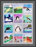 Ice Habitats Finished Quilt Graphic of Arctic animals to pattern for sale at Raspberry Lane Crafts.