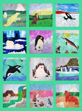 Polar bears, killer whales, penguins, arctic fox, narwhal, walrus, seals quilt block patterns for sale