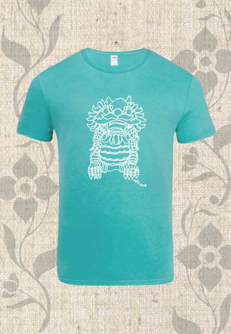 Imperial Guardian Lion Men's T-Shirt in Scuba Blue