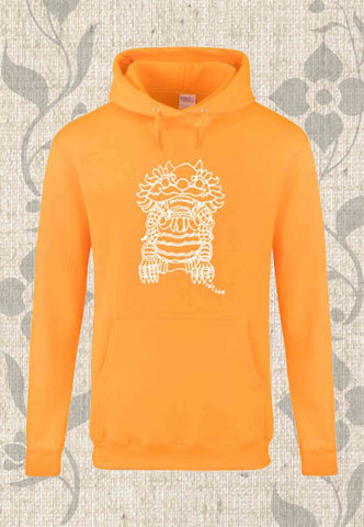 Imperial Guardian Lion Men's Tall Hoodie in Gold