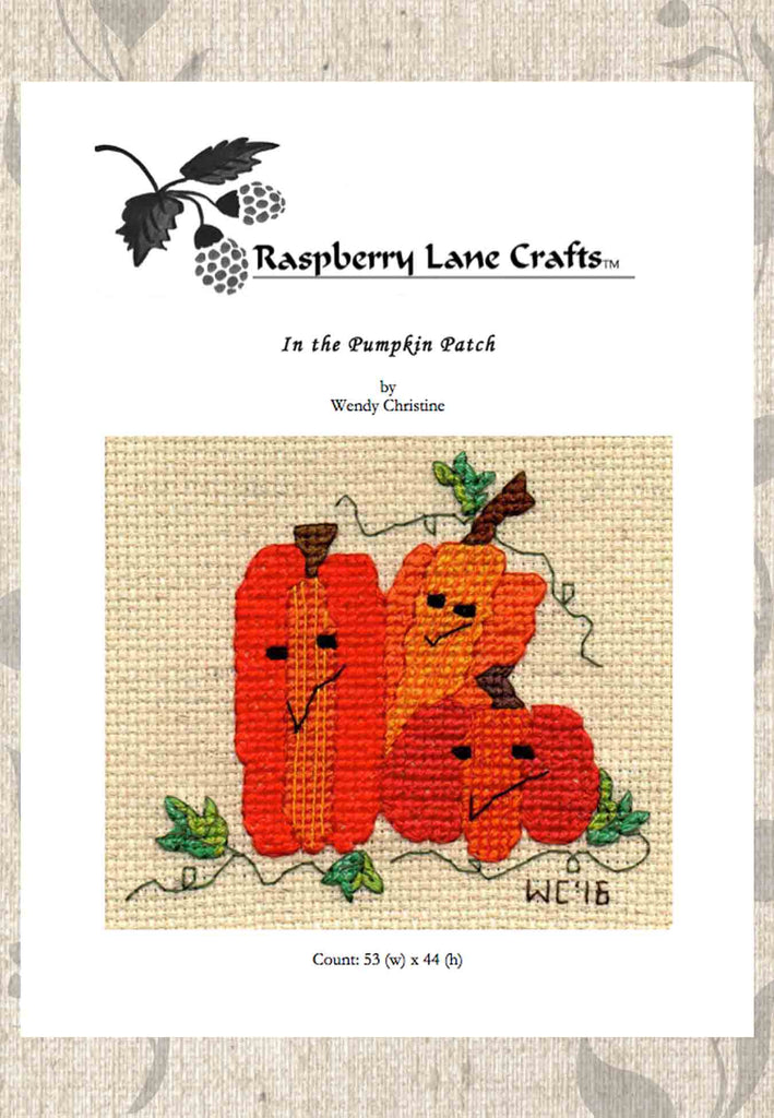Buy Pumpkin cross stitch pattern download at Raspberry Lane Crafts