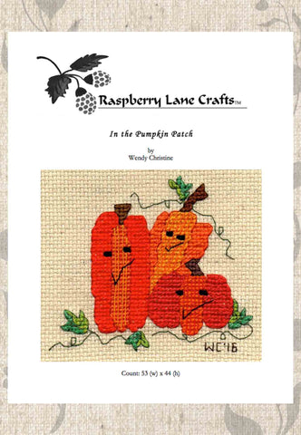 In the Pumpkin Patch Cross Stitch Pattern Digital Download