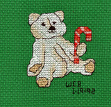 Buy Candy Cane Christmas Teddy Bear Cross Stitch Pattern Raspberry Lane Crafts Four Jolly Bears Cross Stitch Pattern Jolly Bear with Candy Cane by Wendy Christine