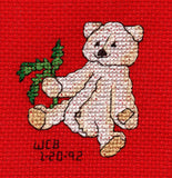 Buy Christmas Bear Cross Stitch Pattern Raspberry Lane Crafts Four Jolly Bears Cross Stitch Pattern Jolly Bear with Fir Branch by Wendy Christine