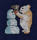 Buy Snowman and Teddy Bear Winter Cross Stitch Pattern Raspberry Lane Crafts Four Jolly Bears Cross Stitch Pattern by Wendy Christine Jolly Bear with Snowman