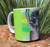 Jungle Monkey Green Coffee Mug for Sale at Raspberry Lane Crafts.  The Art of Wendy Christine