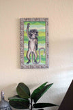 Jungle Monkey Print on Canvas