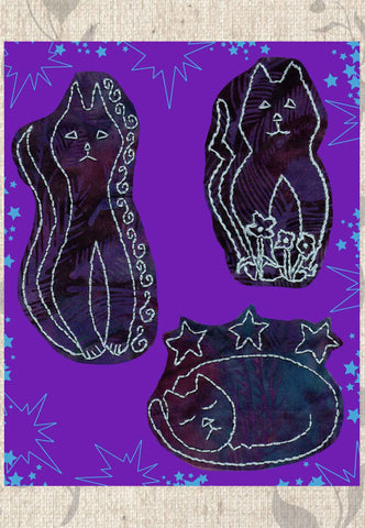 Kitty Bazaar Embroidery Digital Download
