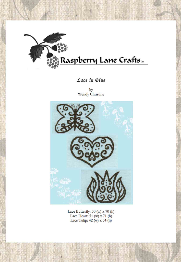 Buy decorative butterfly heart tulip flower cross stitch patterns from Raspberry Lane Crafts