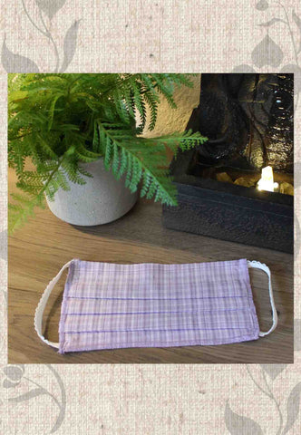 Grocery Store Face Mask - Lavender Plaid