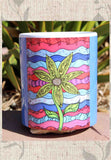 Red white and blue Southwest Art Mug with Flower for Sale Buy Purchase Find at Raspberry Lane Crafts