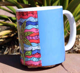 Southwest Art Blue Coffee Cup for Sale from The Art of Wendy Christine at Raspberry Lane Crafts