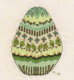 Green Easter Egg Cross Stitch Pattern for Sale by Wendy Christine at Raspberry Lane Crafts