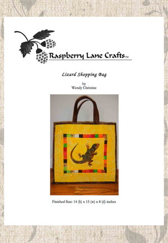 Lizard Shopping Bag Sewing Pattern Download