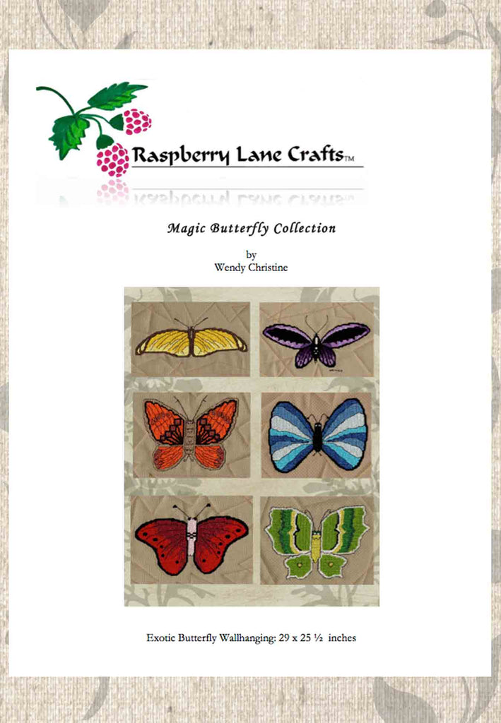 Buy butterfly butterflies cross stitch patterns at Raspberry Lane Crafts.