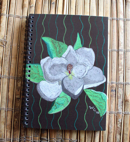 Magnolia Tree Blossom Spiral Notebook