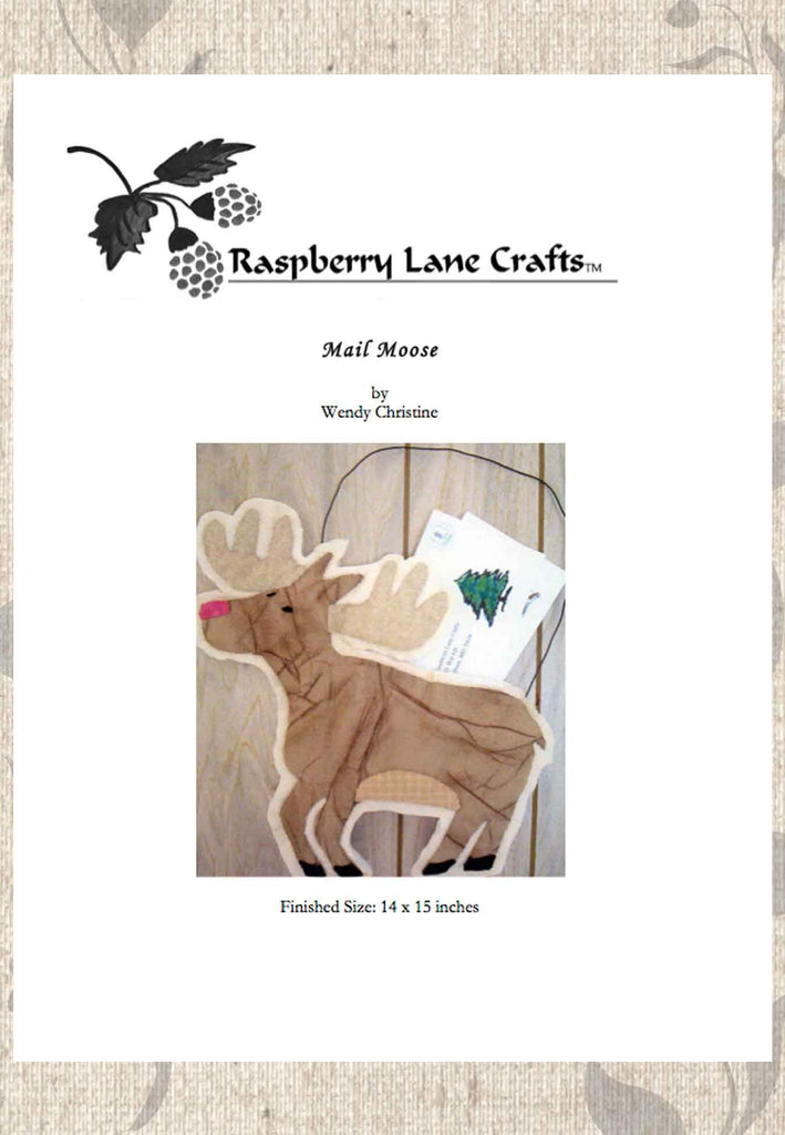 Buy Moose Decoration Quilt Pattern Download Mail Holder for sale at Raspberry Lane Crafts